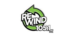 Rewind 105.1FM logo