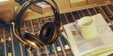 Radio Switchboard and Headphones